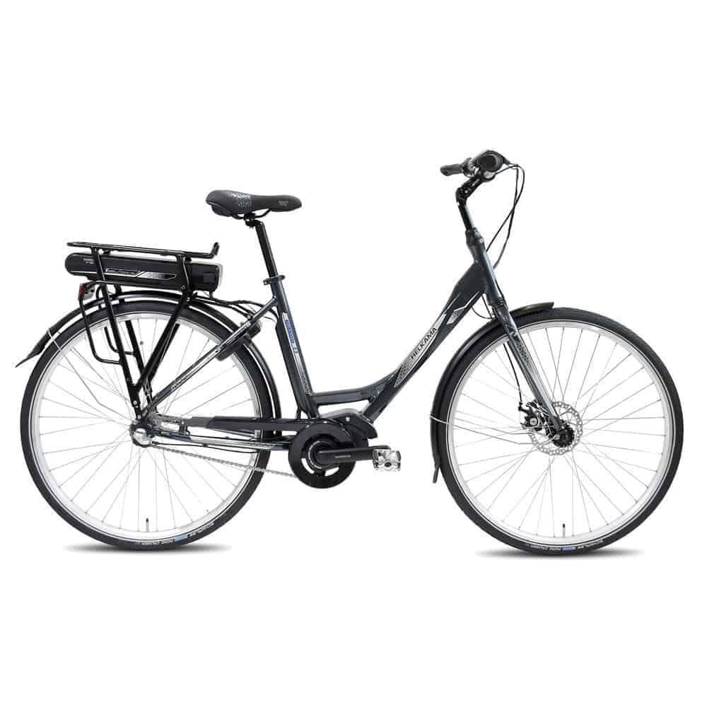 Sähköavusteinen polkupyörä Helkama E3 harmaa, vuoden 2019 malli.
