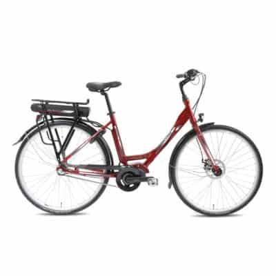 Sähköpolkupyörä Helkama E3 punainen.